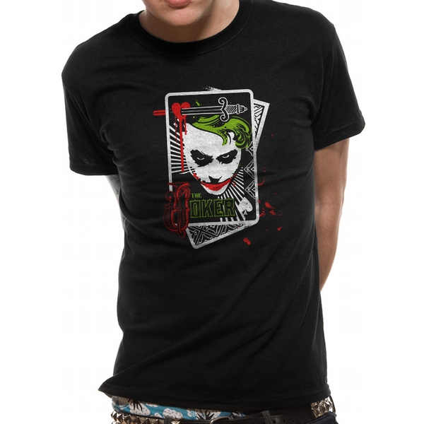 The Dark Knight - Card Men's Large T-Shirt - Black