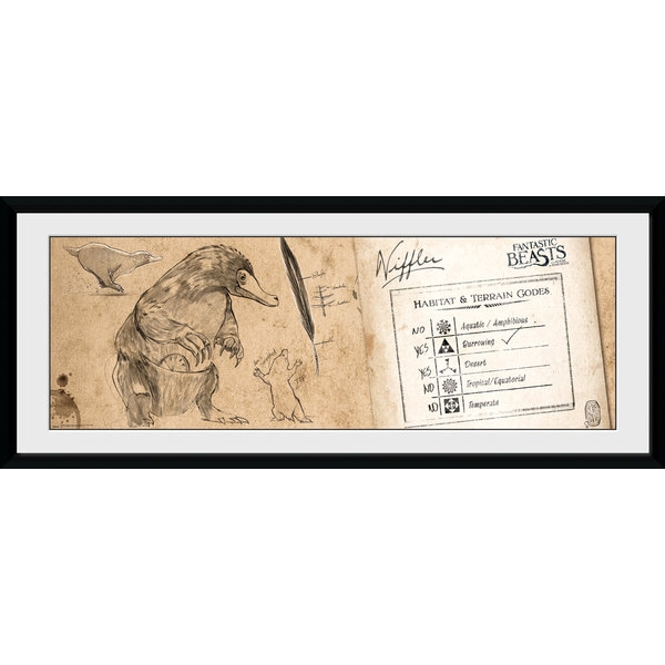 Fantastic Beasts Niffler Framed Collector Print