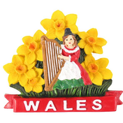 Welsh Lady with Daffodils Magnet