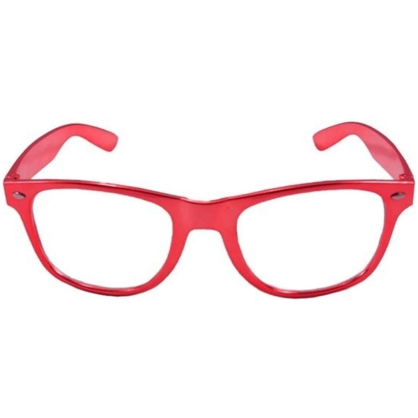 Party Glasses Blues Brothers Metallic Red