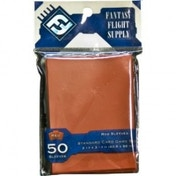 Fantasy Flight Supply 50 Red Sleeves Standard Card Game Size - 10 Packs