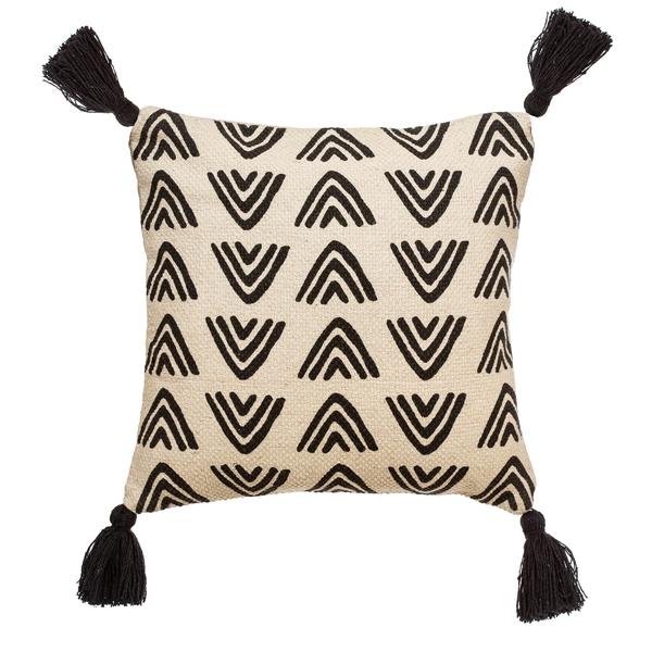 Sass & Belle Triangles Block Print Cushion