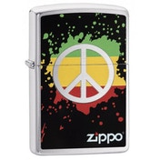 Zippo Peace Brushed Chrome Finish Windproof Lighter