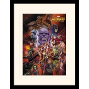 Avengers: Infinity War - Gauntlet Character Collage Mounted & Framed 30 x 40cm Print