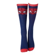 Marvel Comics Spider-Man Adult Female Face Mask Close-up Knee High Socks
