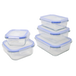 Set of 5 Assorted Glass Airtight Food Storage Containers | M&W - Image 2