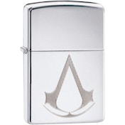 Zippo Assassin's Creed Crest High Polish Chrome Finish Windproof Lighter