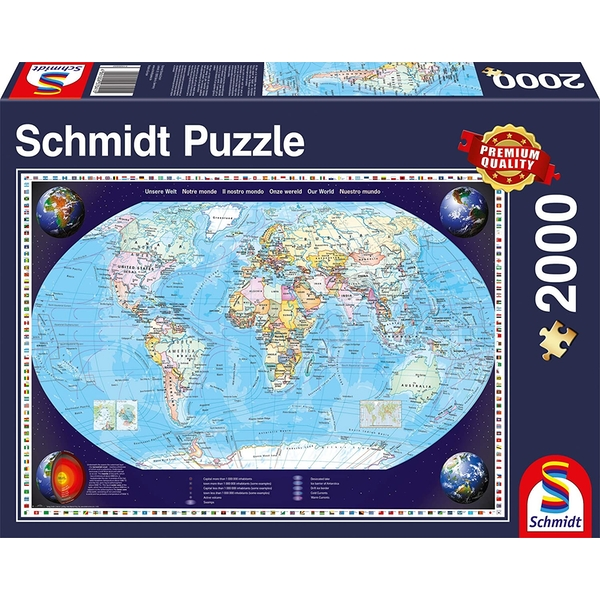 Image of Our World Map Jigsaw Puzzle - 2000 Pieces