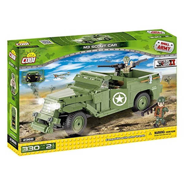 Cobi Small Army World War II M3 Scout Car - 330 Toy Building Bricks - Image 1