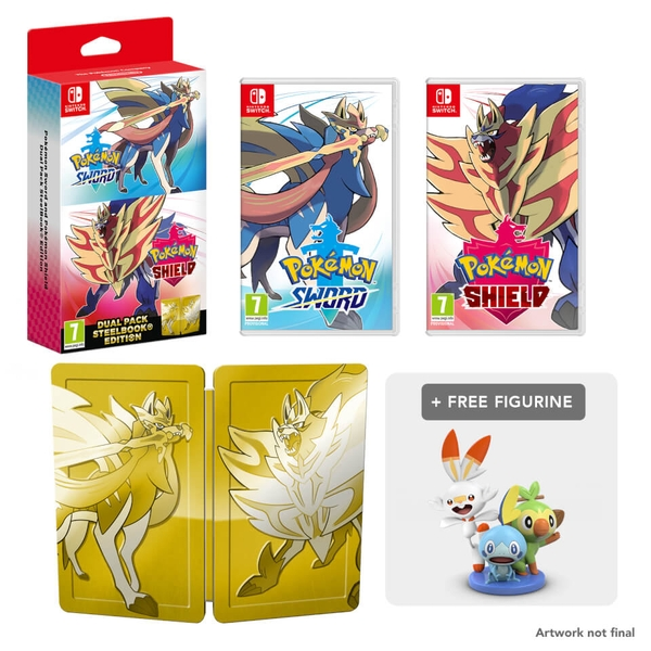 Pokemon Sword and Shield Dual Edition Nintendo Switch + Mini Figurine