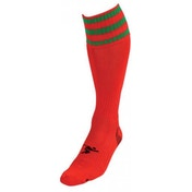 PT 3 Stripe Pro Football Socks LBoys Red/Green