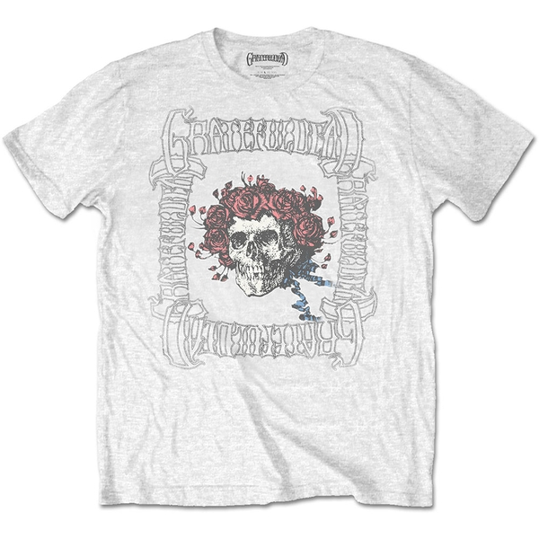 Grateful Dead - Bertha with Logo Box Men's X-Large T-Shirt - White