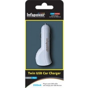 Infapower P014 Twin USB Car Charger 2100mA