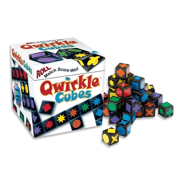 Qwirkle Cubes Board Game Damaged - Image 1