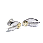 Harry Potter Silver Plated Earrings Golden Snitch