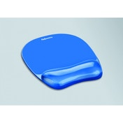 Fellowes Crystal Blue Mouse Pad & Wristrest 91141