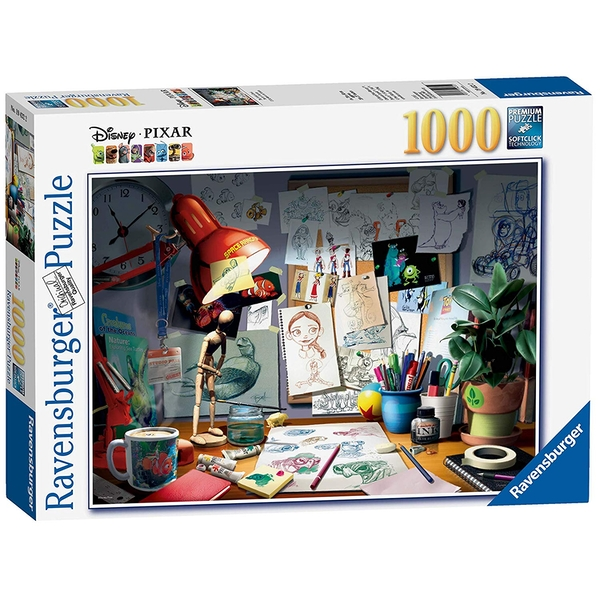 Ravensburger Disney Pixar The Artist's Desk 1000 Piece Jigsaw Puzzle