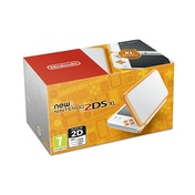 Nintendo 2DS XL Handheld Console White and Orange UK Plug
