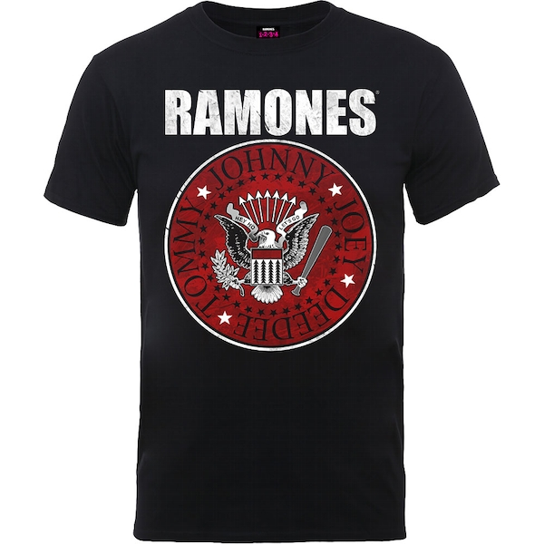Ramones - Red Fill Seal Unisex XX-Large T-Shirt - Black