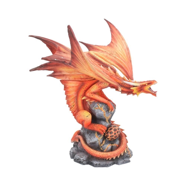Adult Fire Dragon Figurine
