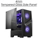 MSI MAG FORGE 100M Mid Tower Gaming Computer Case Black, 2x 120 mm RGB PWM Fan - Image 2
