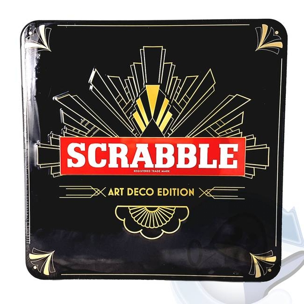 Scrabble Art Deco Tin