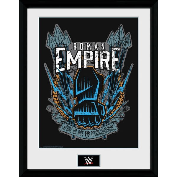 WWE Roman Reigns Framed Collector Print