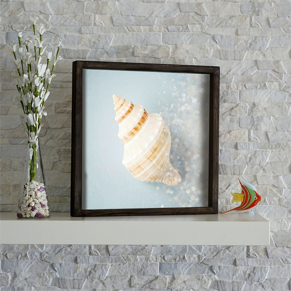 KZM568 Brown Mint White Grey Decorative Framed MDF Painting