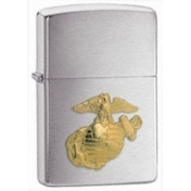 Zippo US Marines Emblem Brushed Chrome Windproof Lighter