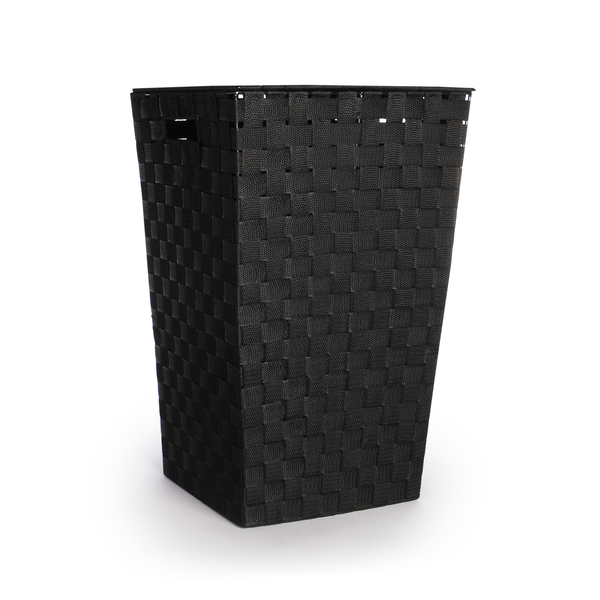 Nylon Laundry Basket - 45L | Pukkr Black