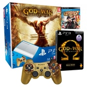 500GB Super Slim Console Special Edition White + God of War Ascension Steelbook + BioShock Infinite Game PS3