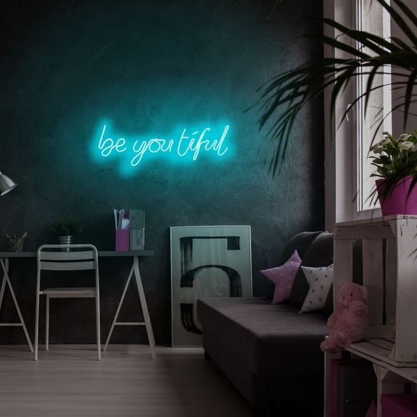 Be you tiful - Blue Blue Wall Lamp
