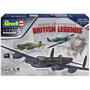 British Legends Gift Set (100 Years of RAF) Level 5 1:72 Revell Model Set