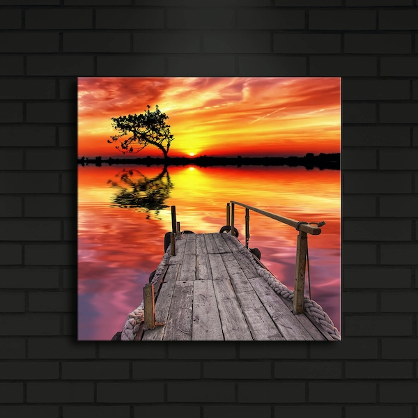 4040?ACT-4 Multicolor Decorative Led Lighted Canvas Painting