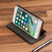 Caseflex Apple iPhone X PU Leather Stand Wallet Felt Lining ID Slots - Black (Retail Box) - Image 3