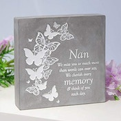 Thoughts Of You Graveside Smooth Concrete Plaque - Nan