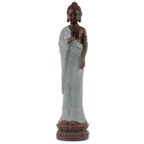 Thai Buddha Brown White and Turquoise - Serenity