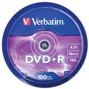 Verbatim DVD R Matt Silver 4.7GB DVD R 100pc(s)