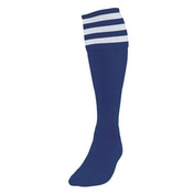 Precision 3 Stripe Football Socks Mens Navy/White