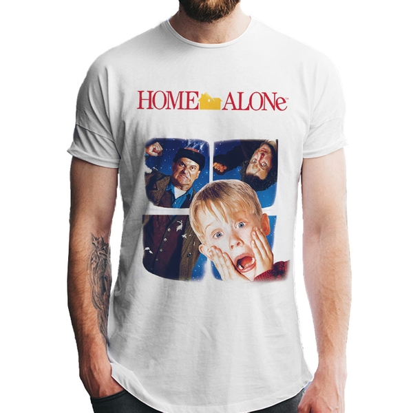 Home Alone - Window Men's Large T-shirt - White