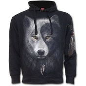 Wolf Chi Side Pocket Men's Medium Hoodie - Black