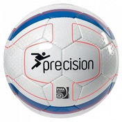 Precision Rosario Match Football (White/Blue/Orange) Size 4