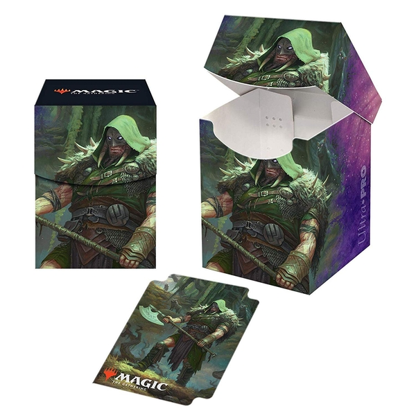 Ultra Pro Magic The Gathering: Throne of Eldraine - Garruk Cursed Huntsman PRO 100+ Deckbox