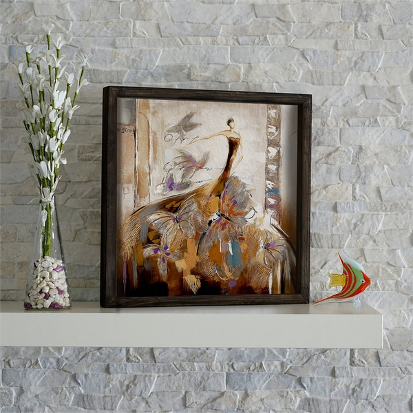 KZM508 Multicolor Decorative Framed MDF Painting