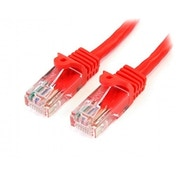 Cat5e patch cable with snagless RJ45 connectors   2m  red