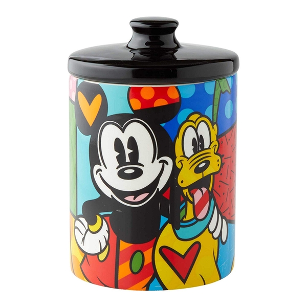 Mickey Mouse and Pluto Disney Britto Small Cookie Jar