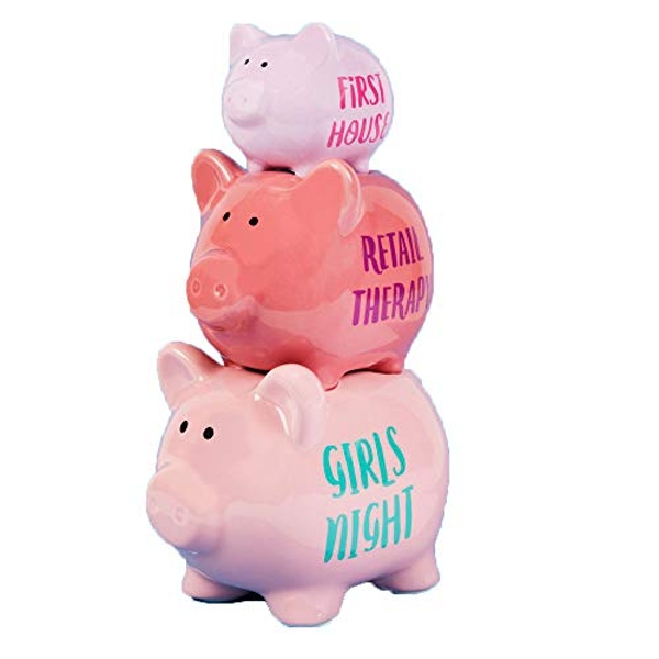 'Pennies & Dreams' Triple Piggy Bank - Girl's Night Out