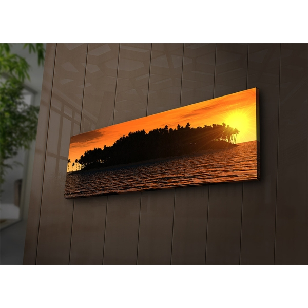 3090?ACT-76 Multicolor Decorative Led Lighted Canvas Painting