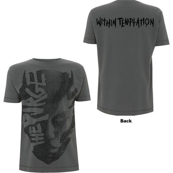 Within Temptation - Purge Jumbo Unisex Large T-Shirt - Grey