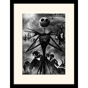 Nightmare Before Christmas - Jack Storm Mounted & Framed 30 x 40cm Print